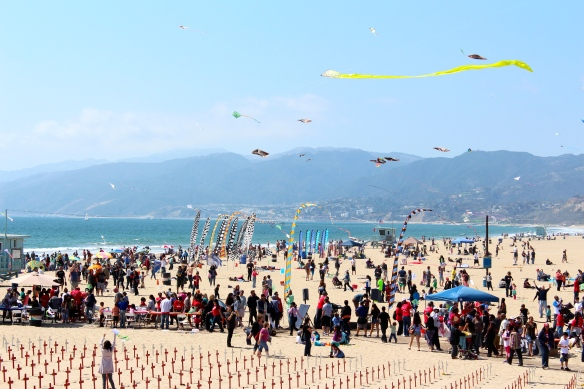Kite Flying on Santa Monica beach